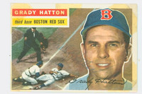 Grady Hatton AUTOGRAPH d.13 1956 Topps #26 Red Sox CARD IS F/P, TAPE FR SCRAPBOOK