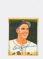 Earl Johnson AUTOGRAPH d.94 1950 Bowman #188 Red Sox CARD IS F/P, TAPE FR SCRAPBOOK