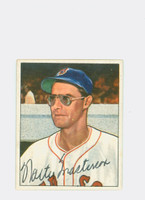 Walt Masterson AUTOGRAPH d.08 1950 Bowman #153 Red Sox CARD IS SHARP NMT