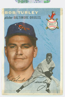 Bob Turley AUTOGRAPH d.13 1954 Topps #85 Orioles CARD IS F/P, TAPE FR SCRAPBOOK