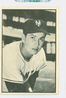 1953 Bowman Black Baseball 28 Hoyt Wilhelm New York Giants Fair to Good