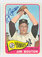 Jim Bouton AUTOGRAPH d.19 1965 Topps #30 Yankees CARD IS CLEAN EX