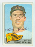 Mike White AUTOGRAPH 1965 Topps #31 Astros CARD IS VG; CRN WEAR, AUTO CLEAN