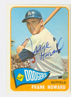 Frank Howard AUTOGRAPH 1965 Topps #40 Dodgers CARD IS CLEAN EX