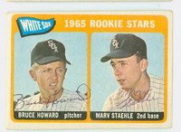 Howard-Staehle DUAL SIGNED 1965 Topps #41 White Sox Rookies CARD IS VG/EX; AUTOS CLEAN  [SKU:HowaB1846_T65BBDRC]