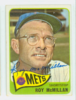 Roy McMillan AUTOGRAPH d.97 1965 Topps #45 Mets CARD IS VG/EX; AUTO CLEAN  [SKU:McMiR24_T65BBC]