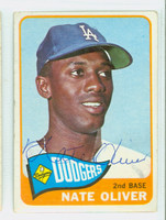 Nate Oliver AUTOGRAPH 1965 Topps #59 Dodgers CARD IS VG; CRN DINGS, AUTO CLEAN  [SKU:OlivN909_T65BBC]