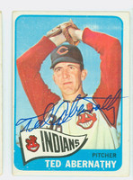 Ted Abernathy AUTOGRAPH d.04 1965 Topps #332 Indians CARD IS VG; CRN WEAR, AUTO CLEAN