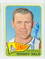 Woody Held AUTOGRAPH d.09 1965 Topps #336 Senators CARD IS CLEAN VG/EX