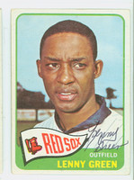 Lenny Green AUTOGRAPH d.19 1965 Topps #588 Red Sox HIGH NUMBER CARD IS CLEAN VG/EX  [SKU:GreeL717_T65BBC]