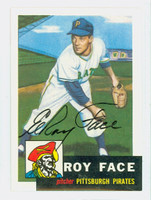 Roy Face AUTOGRAPH Topps 1953 Archives Pirates 