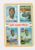 1974 Topps Baseball 5 Hank Aaron 1966-1969 Excellent to Mint
