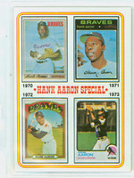 1974 Topps Baseball 6 Hank Aaron 1970-1973 Near-Mint