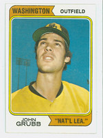 1974 Topps Baseball 32 John Grubb WASHINGTON   Natl League Excellent to Mint