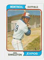 1974 Topps Baseball 25 Ken Singleton Montreal Expos Near-Mint Plus