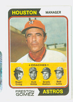 1974 Topps Baseball 31 Preston Gomez Houston Astros Near-Mint to Mint