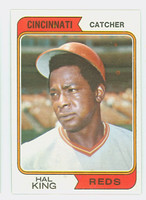 1974 Topps Baseball 362 Hal King Cincinnati Reds Near-Mint to Mint