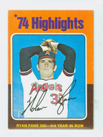 1975 Topps Mini Baseball 5 Nolan Ryan HL California Angels Very Good to Excellent