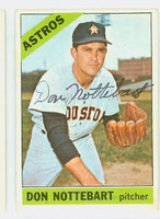 Don Nottebart AUTOGRAPH d.07 1966 Topps #21 Astros CARD IS G/VG, SL CREASE, AUTO CLEAN
