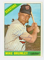 Mike Brumley AUTOGRAPH d.16 1966 Topps #29 Senators CARD IS VG; CRN DING, AUTO CLEAN