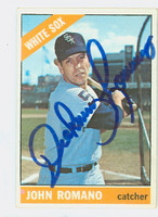 John Romano AUTOGRAPH 1966 Topps #413 White Sox CARD IS CLEAN VG/EX