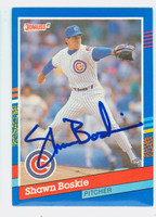 Shawn Boskie AUTOGRAPH 1991 Donruss Cubs 