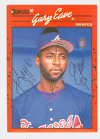 Gary Eave AUTOGRAPH 1990 Donruss Braves 