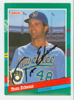 Tom Edens AUTOGRAPH 1991 Donruss Brewers 
