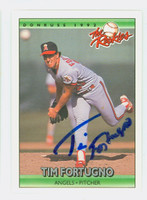 Tim Fortugno AUTOGRAPH 1992 Donruss Angels 