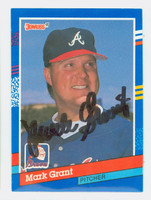Mark Grant AUTOGRAPH 1991 Donruss Braves 