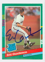 Eric Gunderson AUTOGRAPH 1991 Donruss Giants 