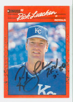 Rick Luecken AUTOGRAPH 1990 Donruss Royals 