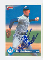 Bob MacDonald AUTOGRAPH 1993 Donruss Blue Jays 