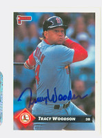 Tracy Woodson AUTOGRAPH 1993 Donruss Cardinals 