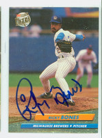 Ricky Bones AUTOGRAPH 1992 Fleer Ultra Brewers 