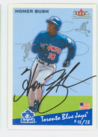 Homer Bush AUTOGRAPH 2002 Fleer Tradition Blue Jays 