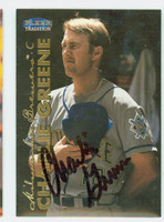 Charlie Greene AUTOGRAPH 1999 Fleer Tradition Brewers 