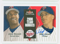Mike Lincoln AUTOGRAPH 2000 Fleer Tradition Twins 