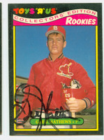 Greg Mathews AUTOGRAPH Toys R Us Rookies Cardinals 
