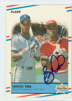 Eric Davis AUTOGRAPH 1988 Fleer CRUNCH TIME Reds 