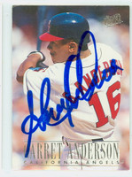 Garret Anderson AUTOGRAPH 1996 Fleer Ultra Angels 