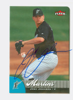 Josh Johnson AUTOGRAPH 2007 Fleer Marlins 