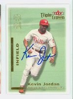 Ricky Jordan AUTOGRAPH 2001 Fleer Triple Crown Phillies 