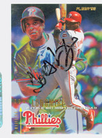 Tony Longmire AUTOGRAPH 1995 Fleer Phillies 