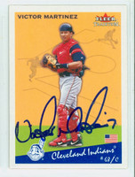 Victor Martinez AUTOGRAPH 2002 Fleer Tradition 1934 Goudey Design Indians 