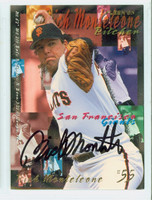 Rich Monteleone AUTOGRAPH 1995 Fleer Giants 