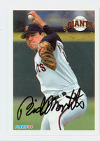 Rich Monteleone AUTOGRAPH 1994 Fleer Giants 
