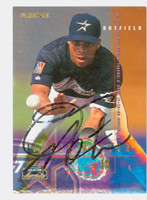 James Mouton AUTOGRAPH 1995 Fleer Astros 