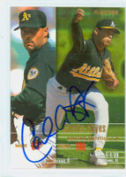 Carlos Reyes AUTOGRAPH 1995 Fleer Athletics 