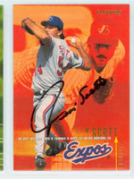 Tim Scott AUTOGRAPH 1995 Fleer Expos 